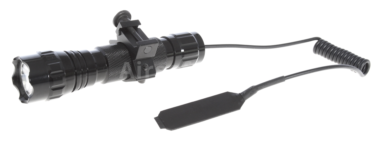 Tactical flashlight 900 lm, 2x batteries, charger, accessories, UltraFire