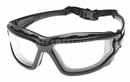 Tactical goggles, dual lens, clear, ASG