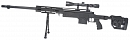 M24 RAS, black, bipod, scope, Well, MB4411D