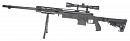 M24 RAS, stock M4, black, bipod, scope, Well, MB4412D