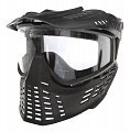 Protective mask, with lens, medium, black, Well