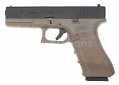 Glock 17, frame 4. gen., TAN, GBB, WE