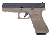 Glock 18C, frame 4. gen., TAN, GBB, WE