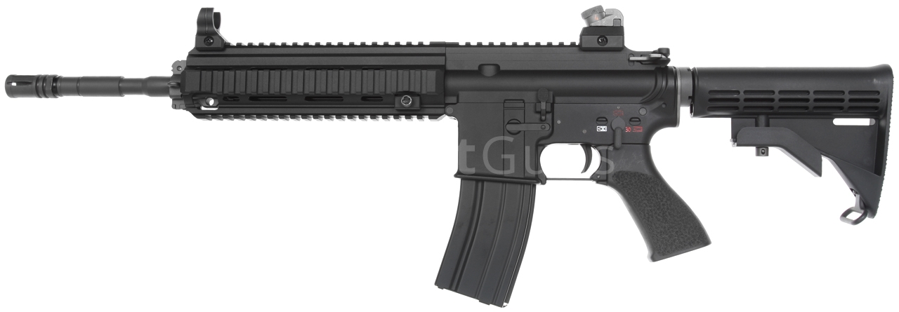 HK416, black, GBB, WE