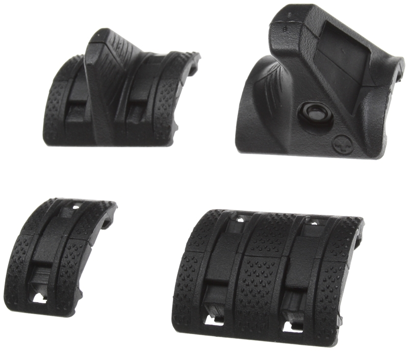 Rails cover set, XTM, Hand Stop, black, Magpul PTS