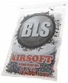Airsoft BBs, 0.46g, 6mm, gray, stainless, 1000rd, small bag, BLS