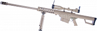 Barrett M82A1, TAN, bipod, scope, Snow Wolf, SW-02A