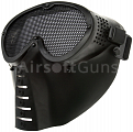 Protective mask, with mesh, small, mod.O, black, ACM