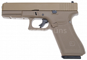 Glock 17, frame 5. gen., tan, GBB, WE