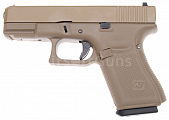 Glock 19, frame 5. gen., tan, GBB, WE