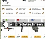 A lot of airsoft news like WE guns, upgrade parts SHS, tactical accesories and equipment